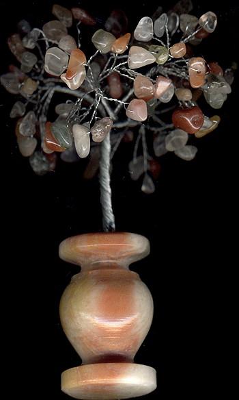 Изготовление деревья из натуральных камней